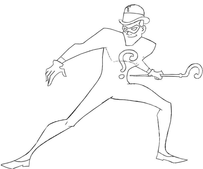 batman riddler coloring pages - photo#4