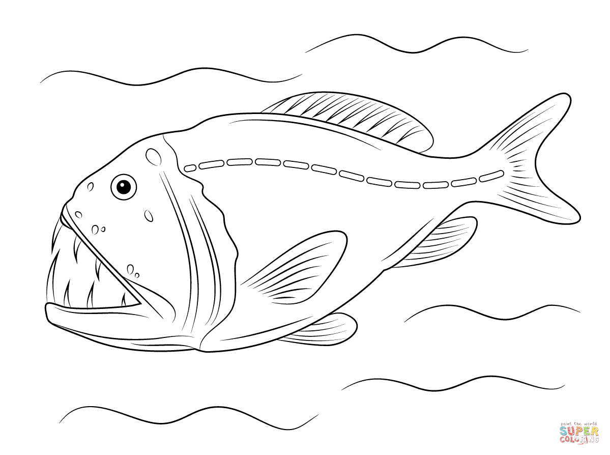 Deep sea fish coloring pages | Free Coloring Pages