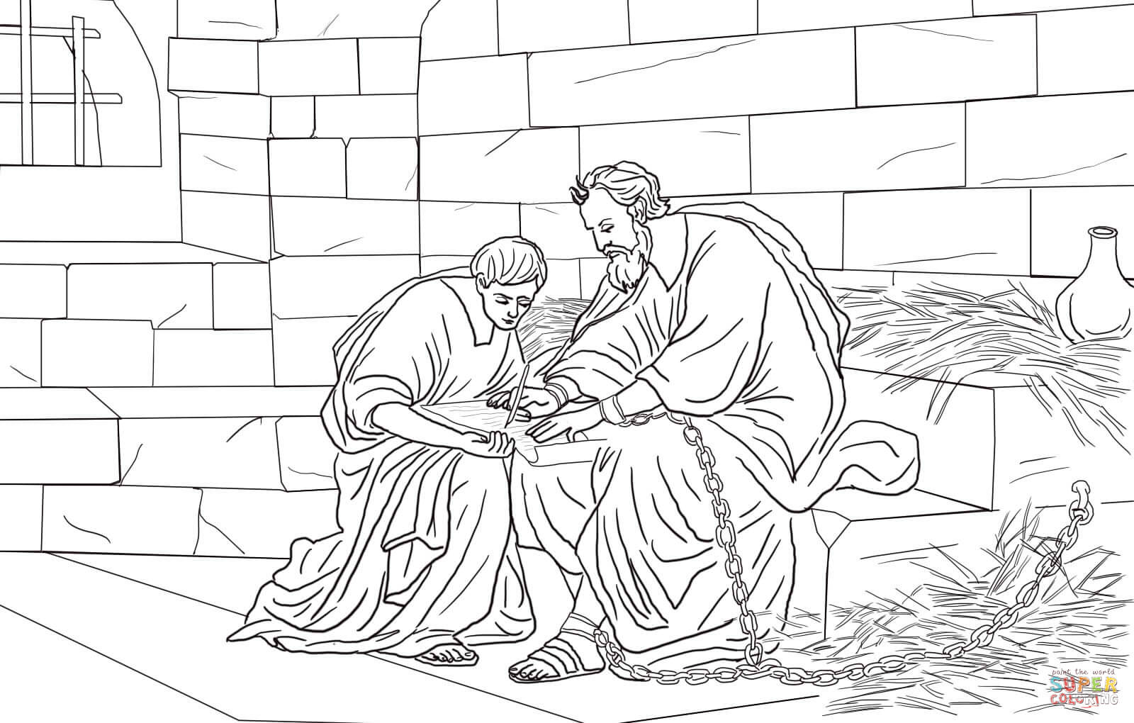 coloring pages joseph in jail - photo#24