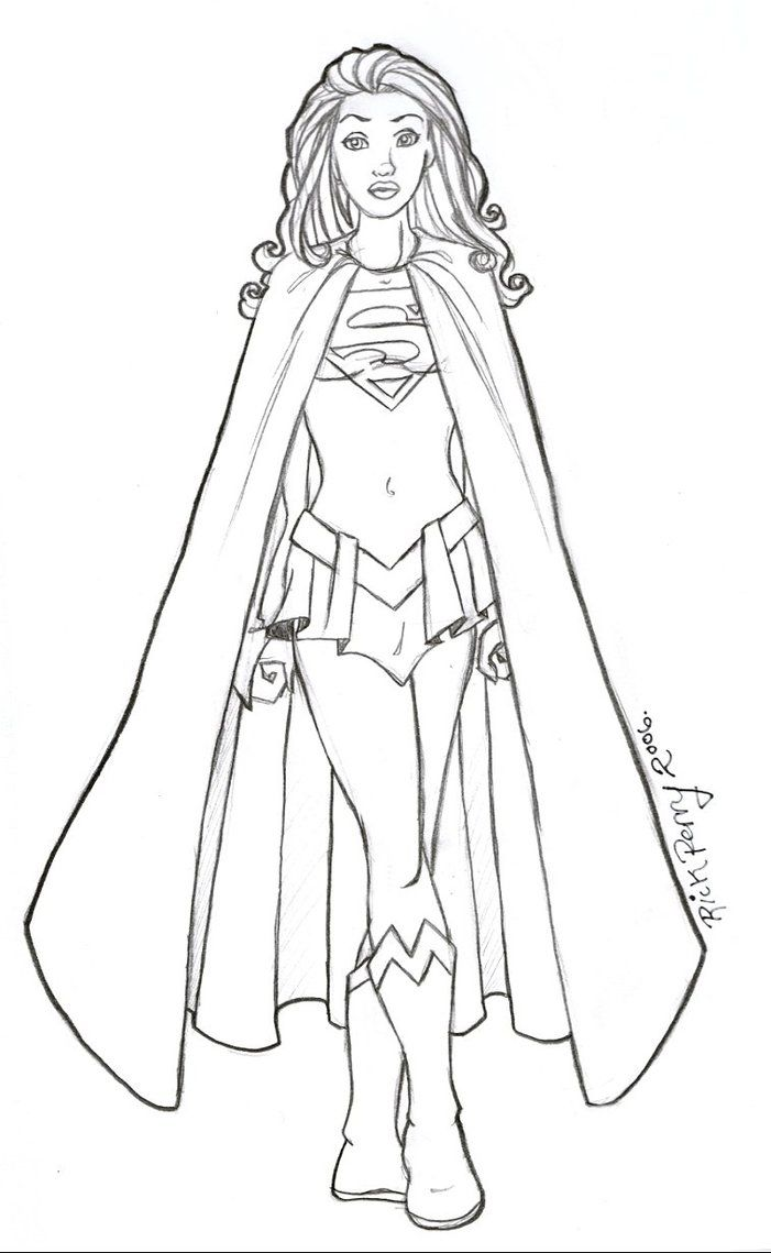 supergirl coloring pages printables - photo#16