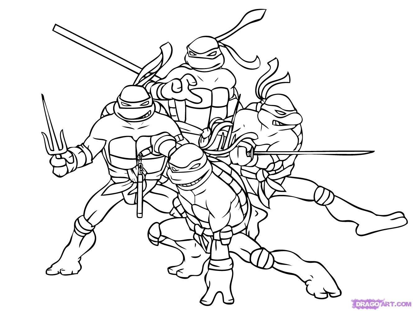 Printable Ninja Turtles Coloring Pages - Coloring Home