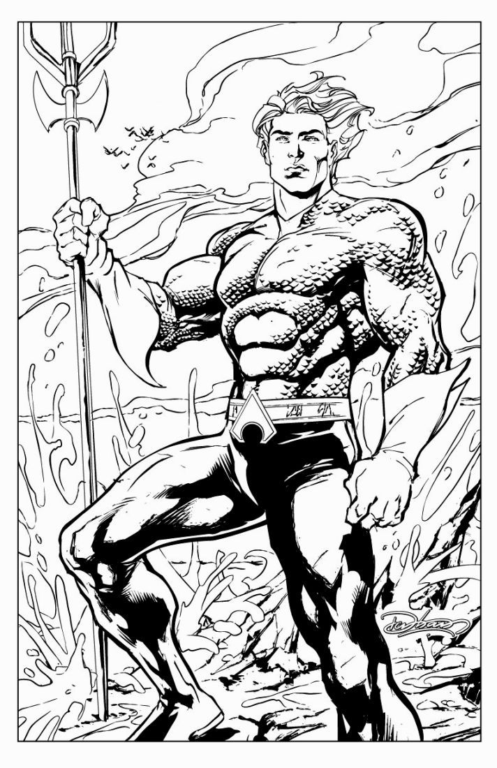 Aquaman coloring pages free coloring home for Aquaman coloring pages
