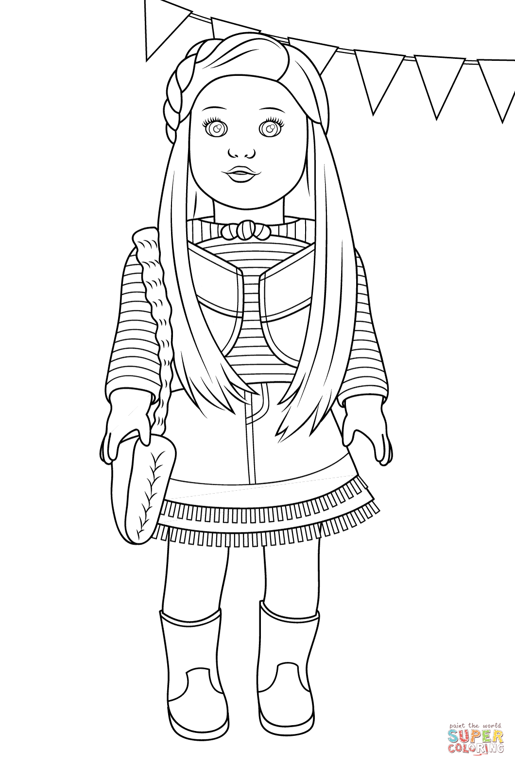 American Girl Mckenna coloring page | Free Printable Coloring Pages