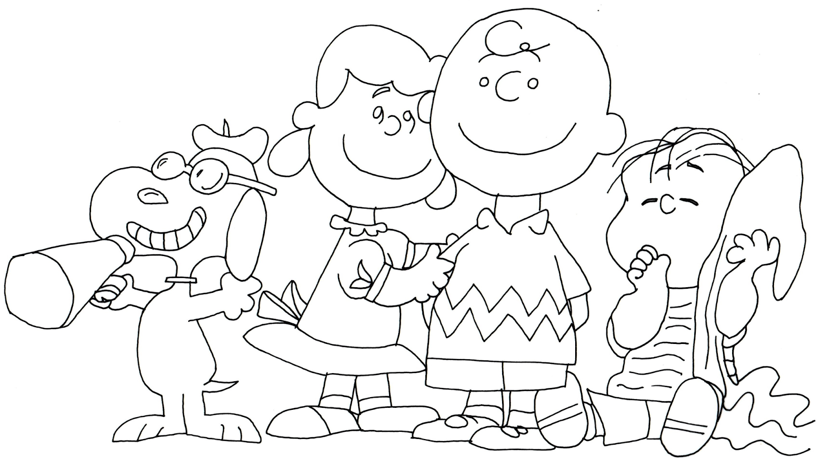 free charlie brown snoopy and peanuts coloring pages snoopy lucy