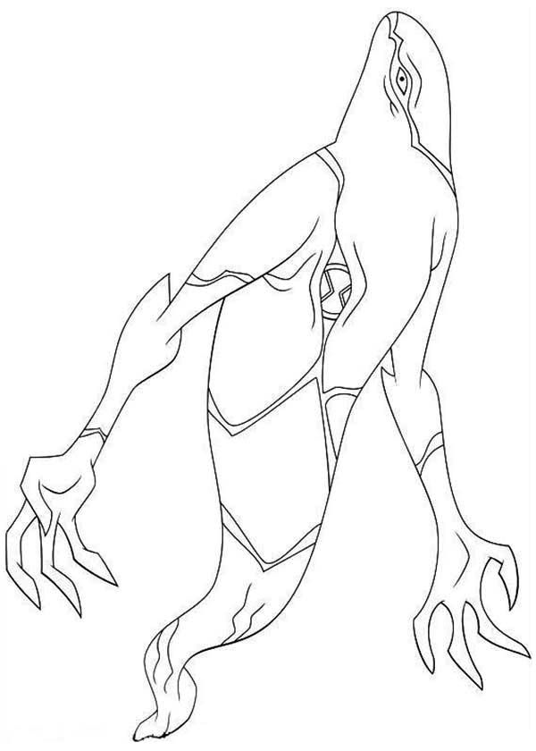 Ghostfreak from Ben 10 Omniverse Coloring Page - Download & Print ...