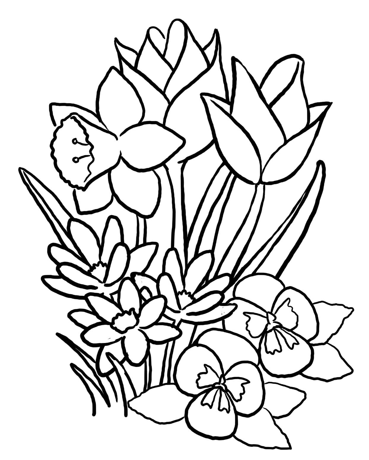 Cute Spring Flower Coloring Pages Coloring Pages For Kids #cMb ...