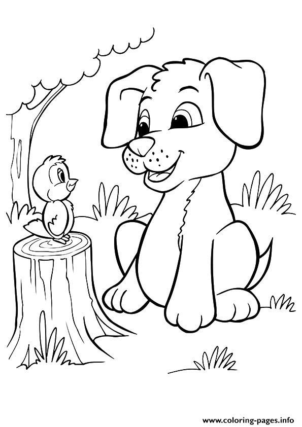 Coloring Pages For Girls Puppies Coloring Home