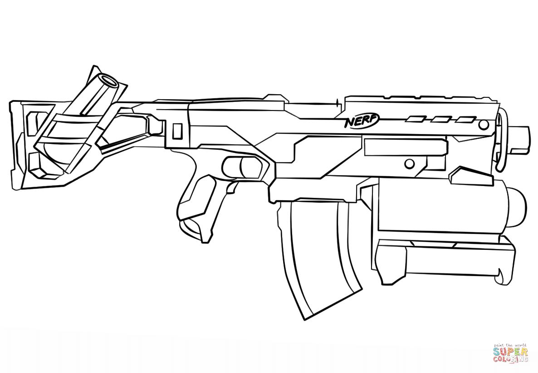 Gun Coloring Pages Pdf : Nerf gun coloring page free printable pages