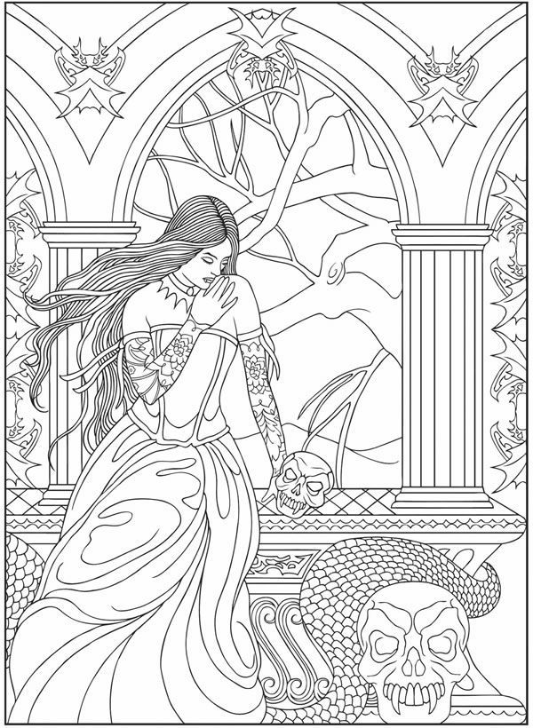 Coloring Pages Vampire : Teen vampire coloring pages home