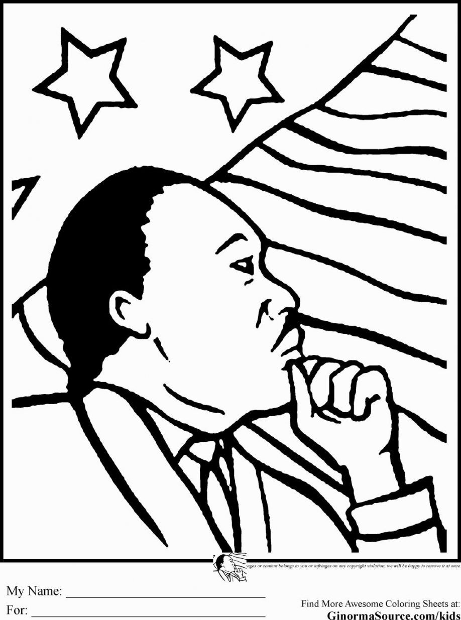 Mlk Coloring Page Free Coloring Home