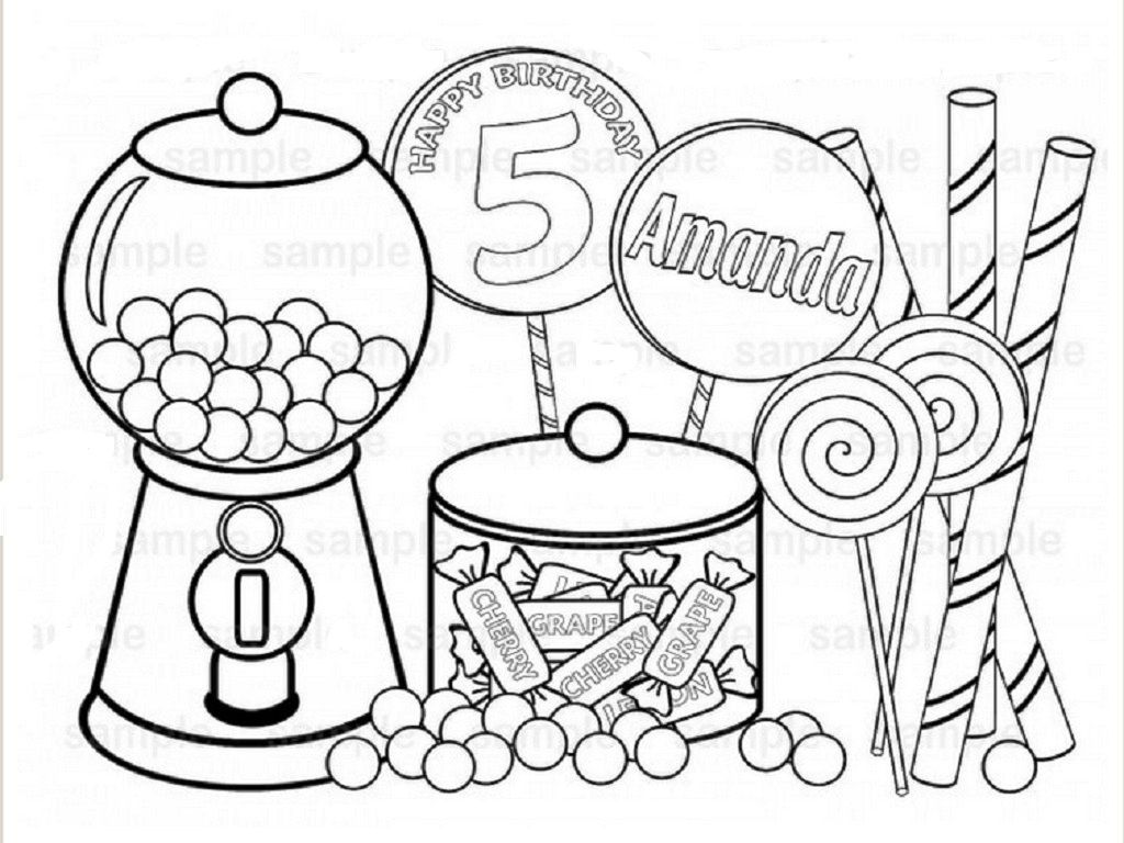 Printable Candy Coloring Pages Coloring Home