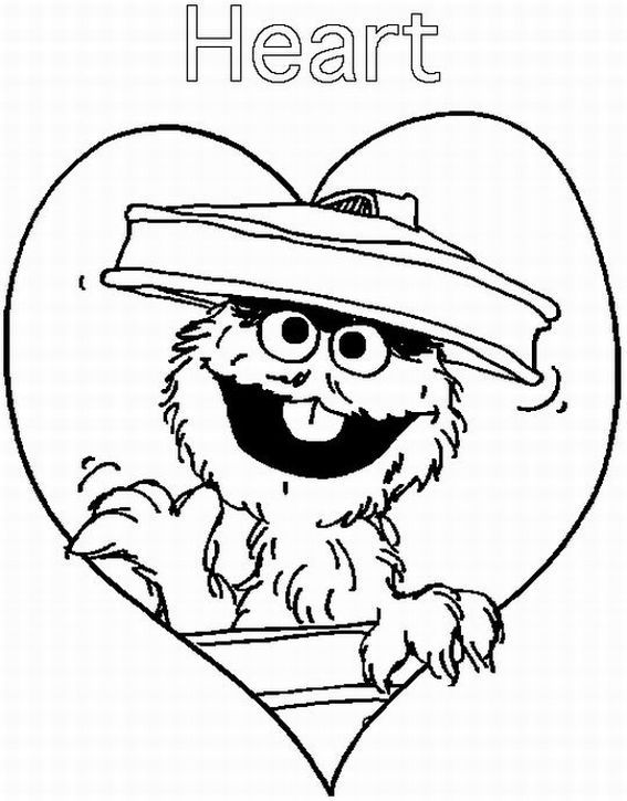 coloring pages oscar the grouch - photo#17