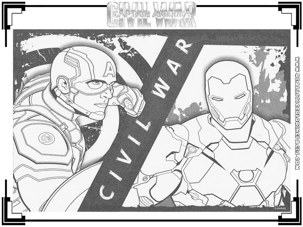 Captain America Civil War Coloring Pages