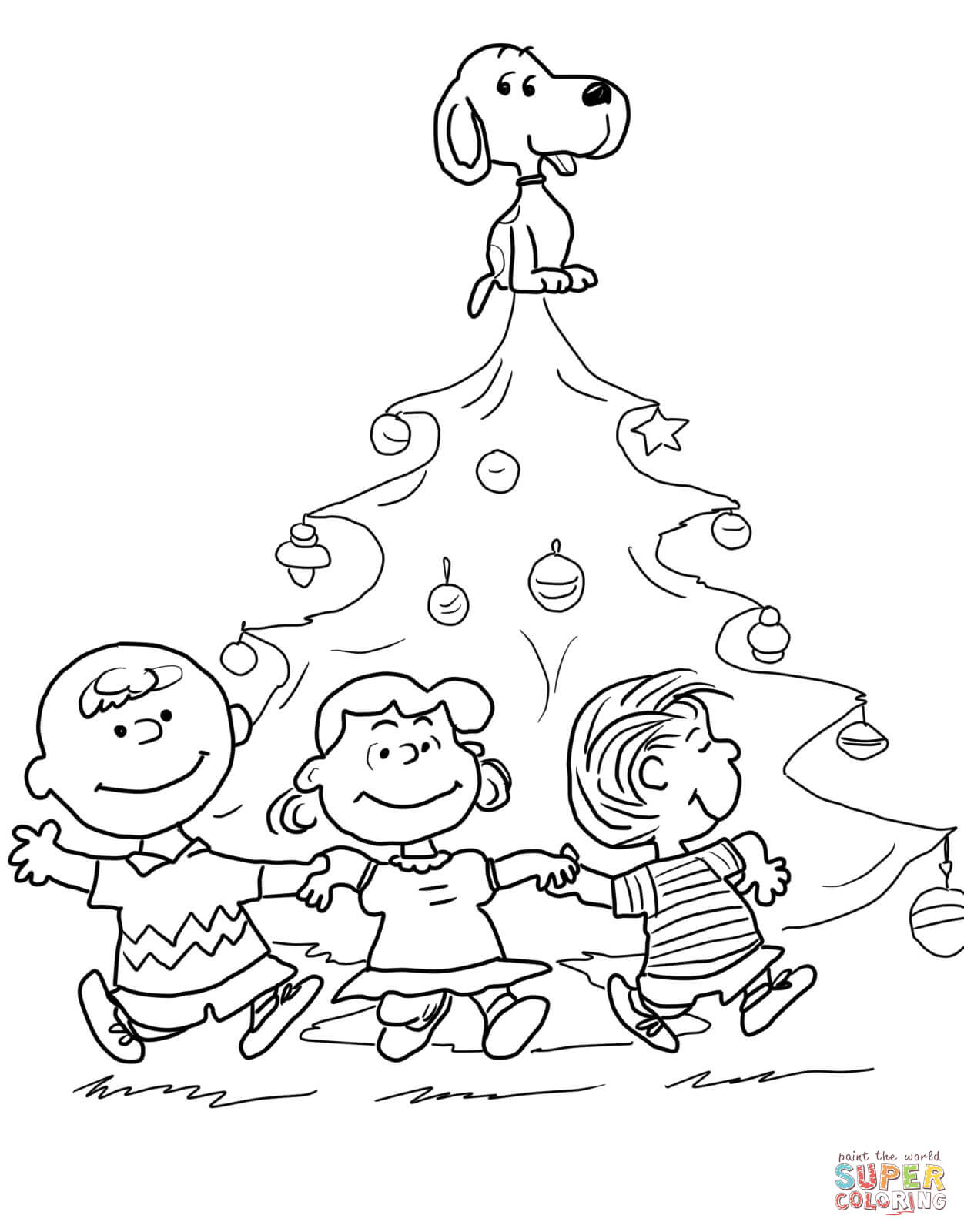 Charlie Brown Christmas Tree coloring page | Free Printable ...