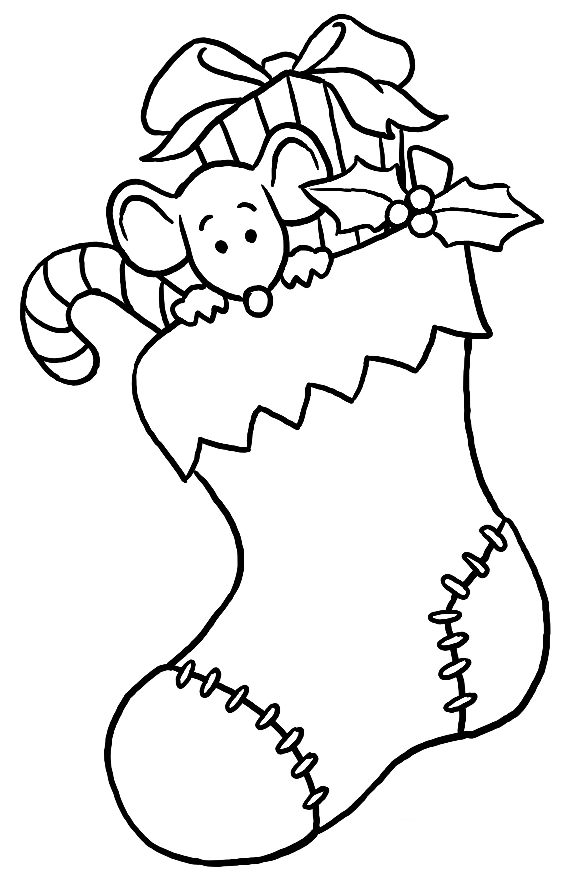Free xmas coloring pages printable