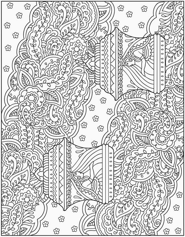 Complex Abstract Coloring Pages : Complex mandala coloring pages printable home