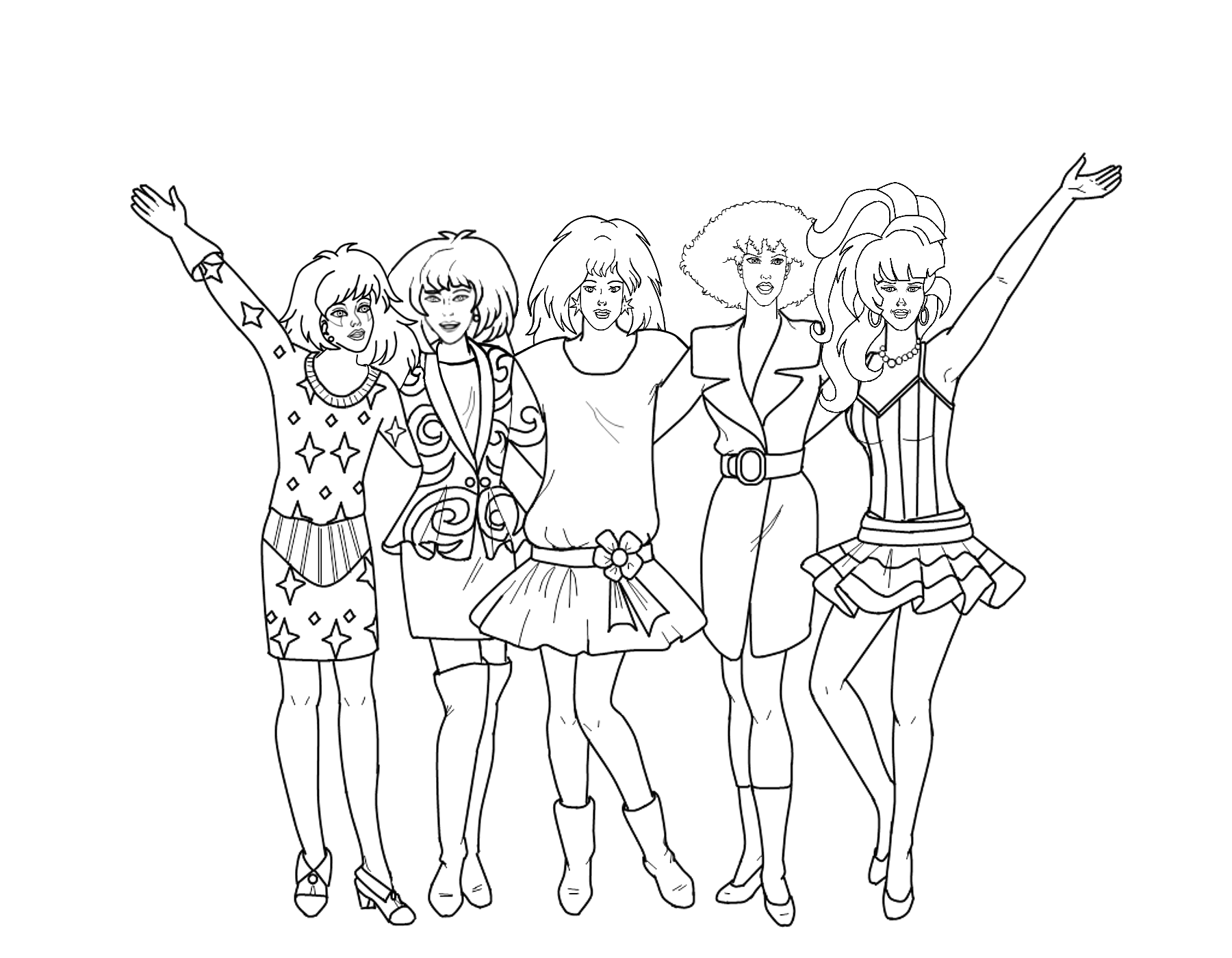 Jem And The Holograms Coloring Pages Az Coloring Pages Jem Coloring Pages