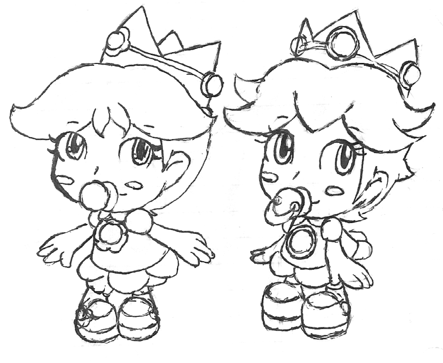 princess peach coloring pages for kids and for adults - Rosalina Peach Coloring Pages