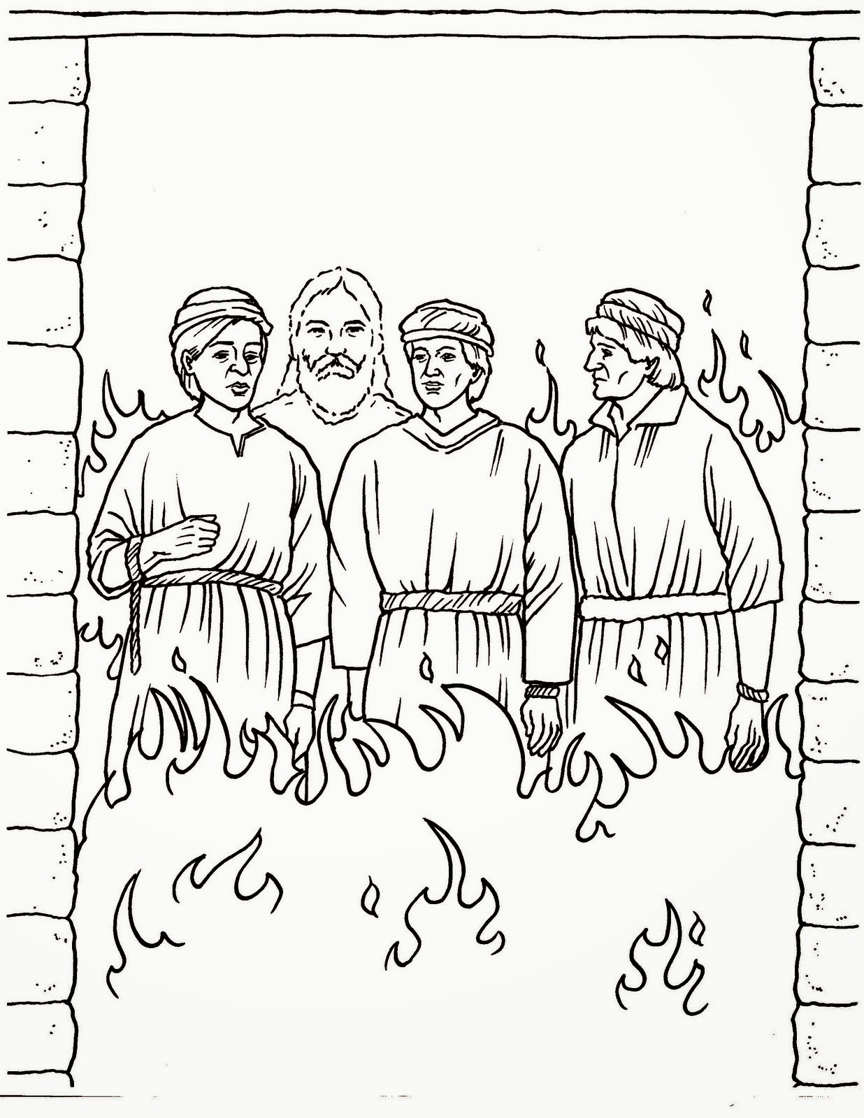 Shadrach Meshach And Abednego Coloring Page Coloring Home
