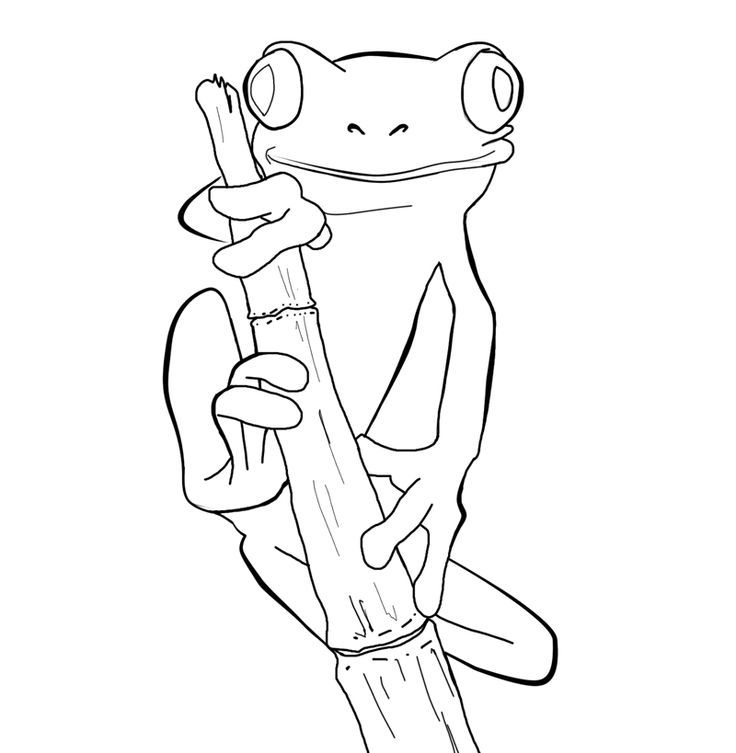 dark frog coloring pages - photo#30