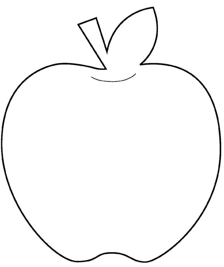Apple stencil printable coloring home for Cookbook templates for mac