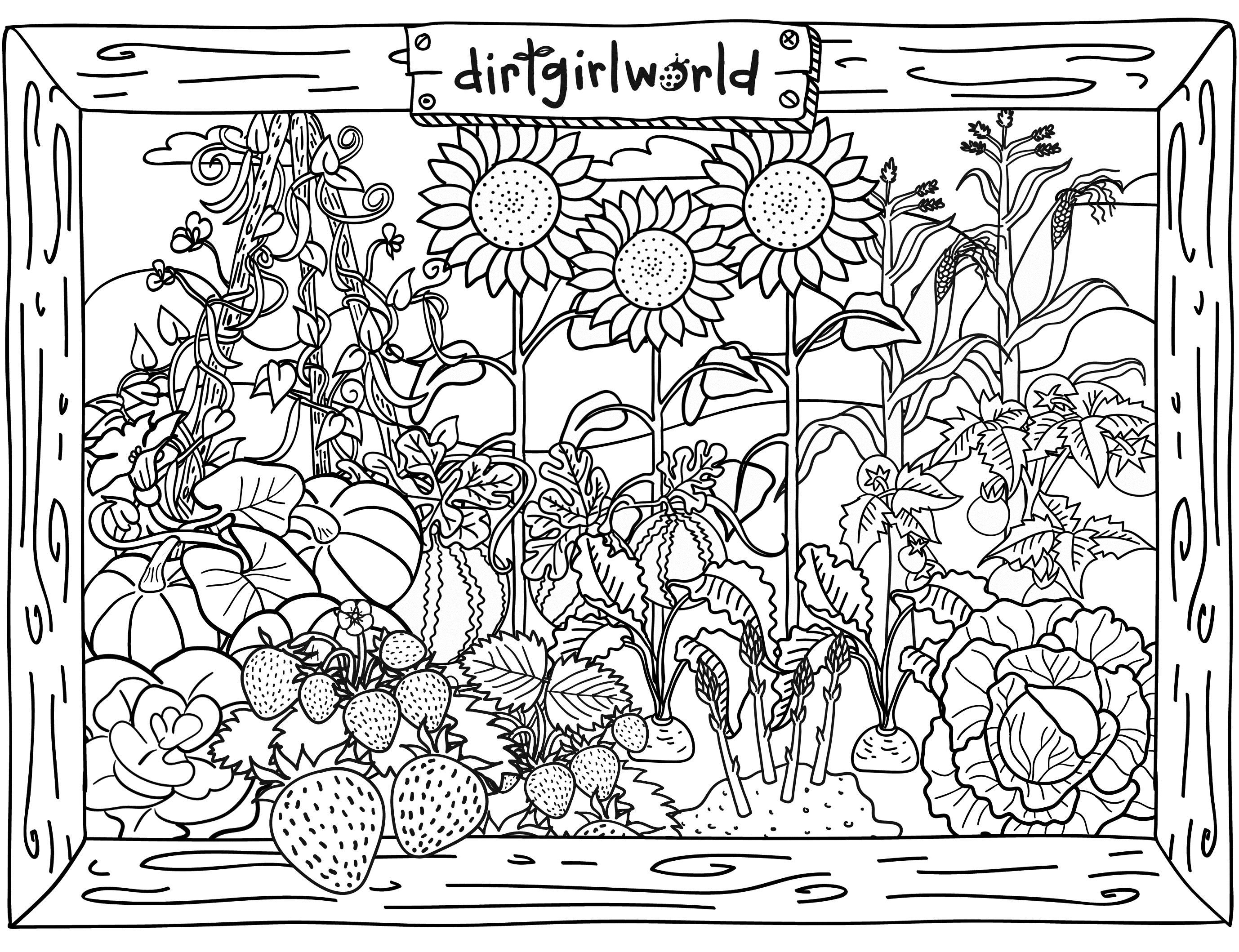 Free coloring page garden - Gardening Coloring Pages To Download And Print For Free