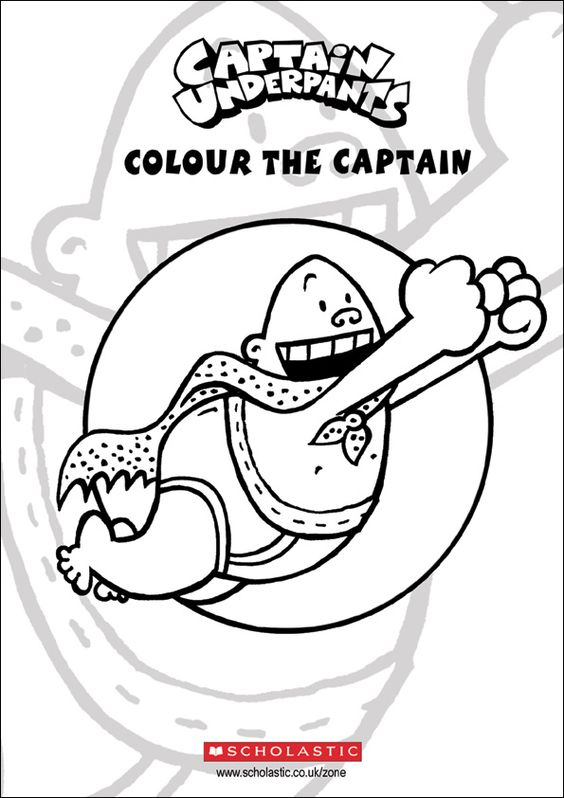 Captain Underpants Coloring Page Coloring Home