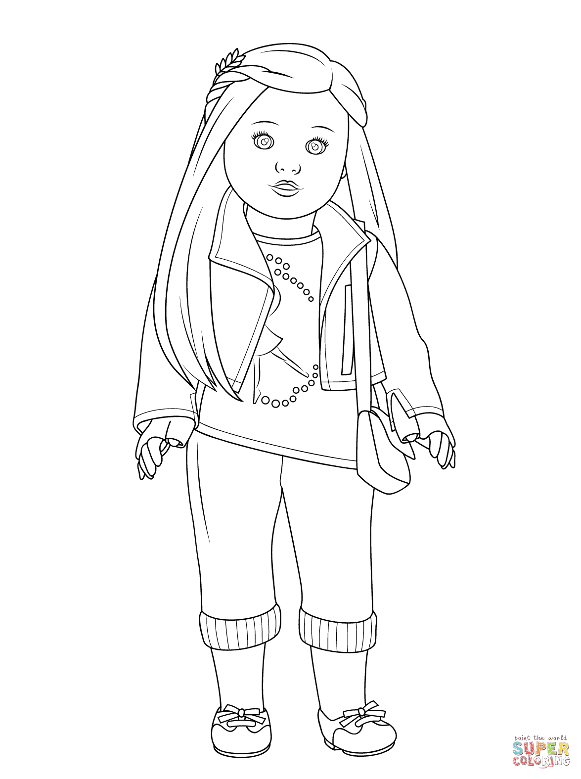 Free Printable Baby Doll Coloring