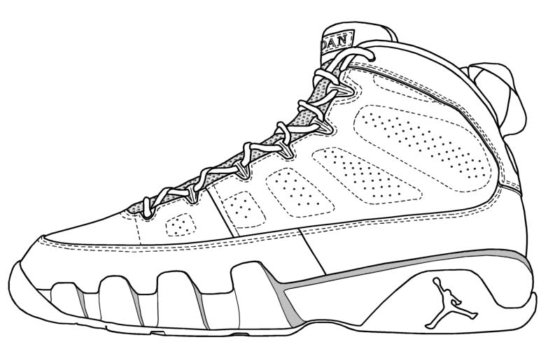 Jordan Shoes Coloring Pages Coloring Home