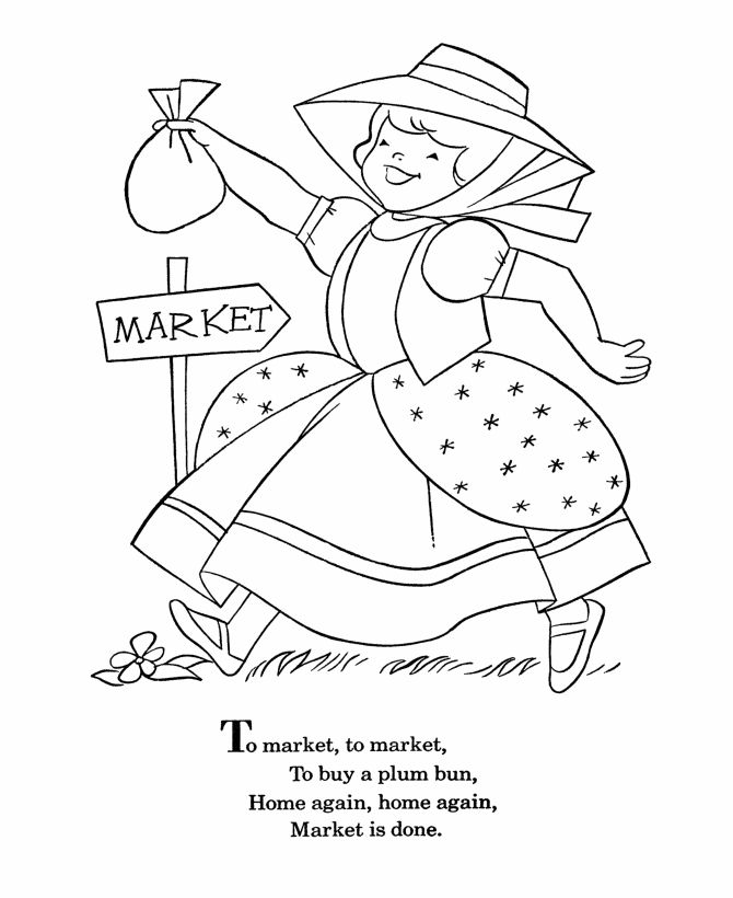 Mary Mary Quite Contrary Coloring Page Coloring Home