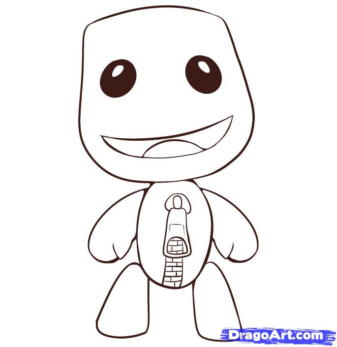 Little Big Planet Coloring Pages Coloring Home Big Planet Coloring Pages