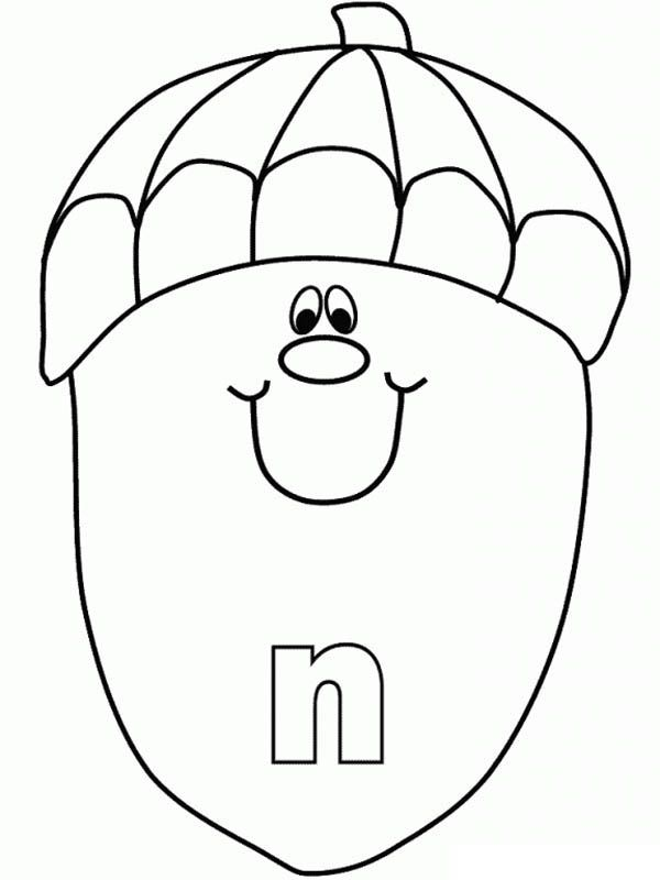 Letter N Coloring Pages Preschool
