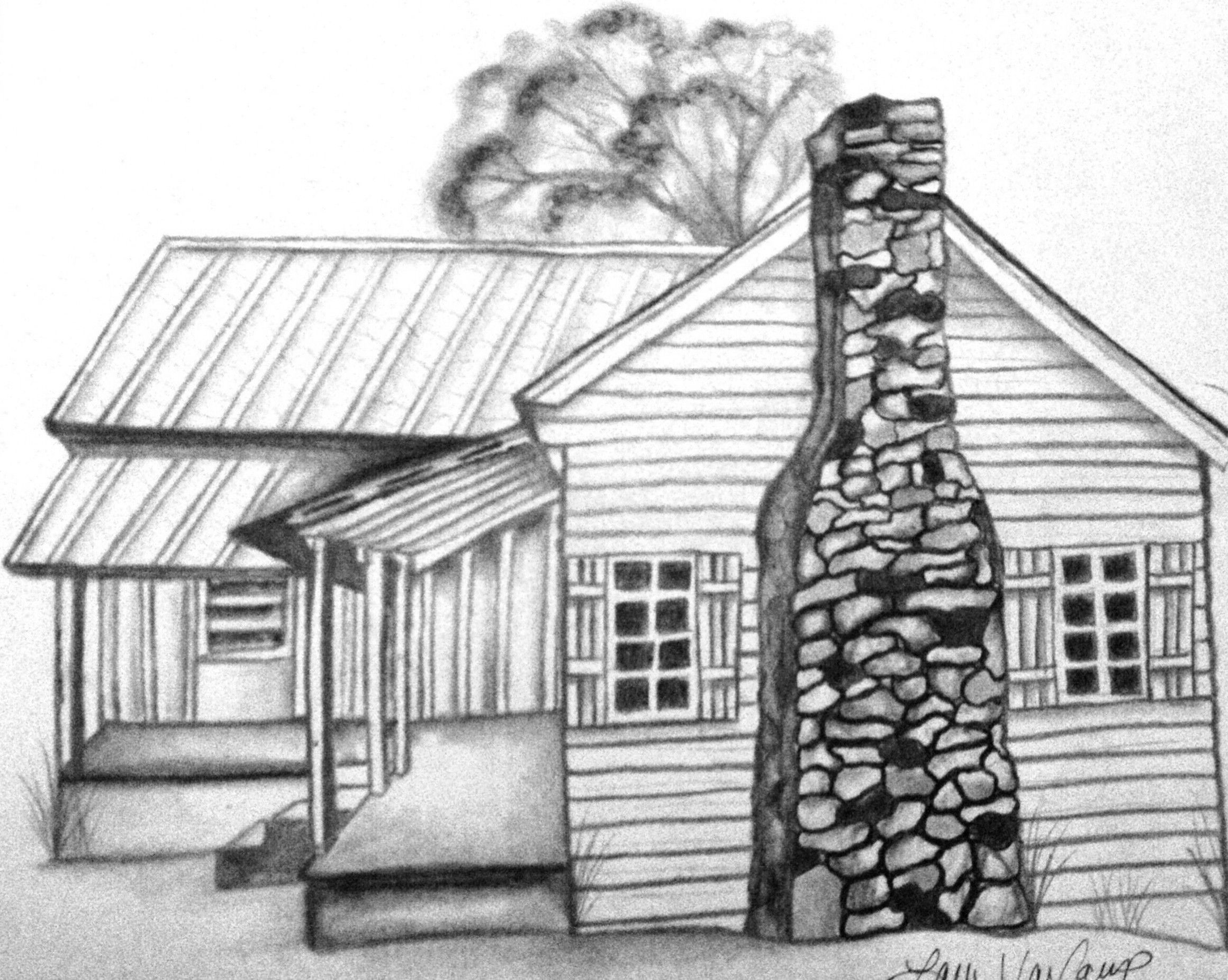 cabin coloring pages - photo#13