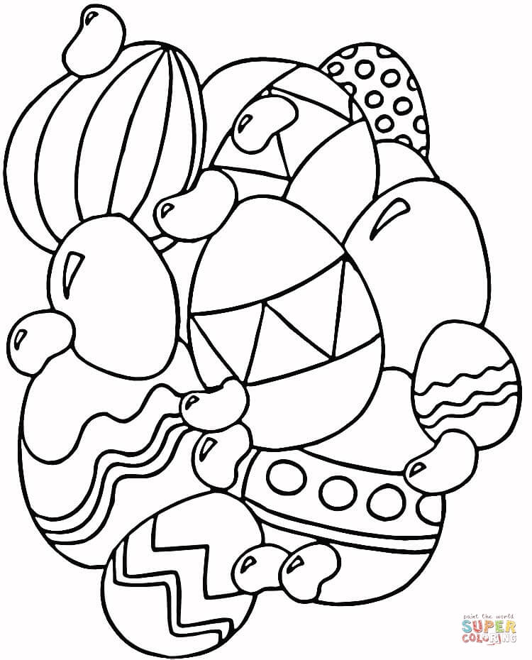 Jelly Beans and Eggs coloring page | Free Printable Coloring Pages