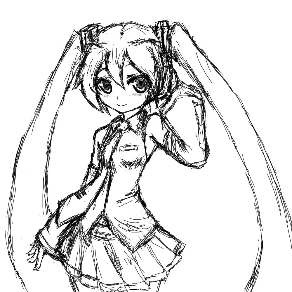 hatsune miku coloring pages - photo #18