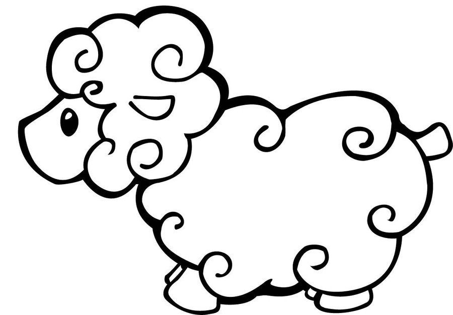 baby sheep coloring pages - photo#8