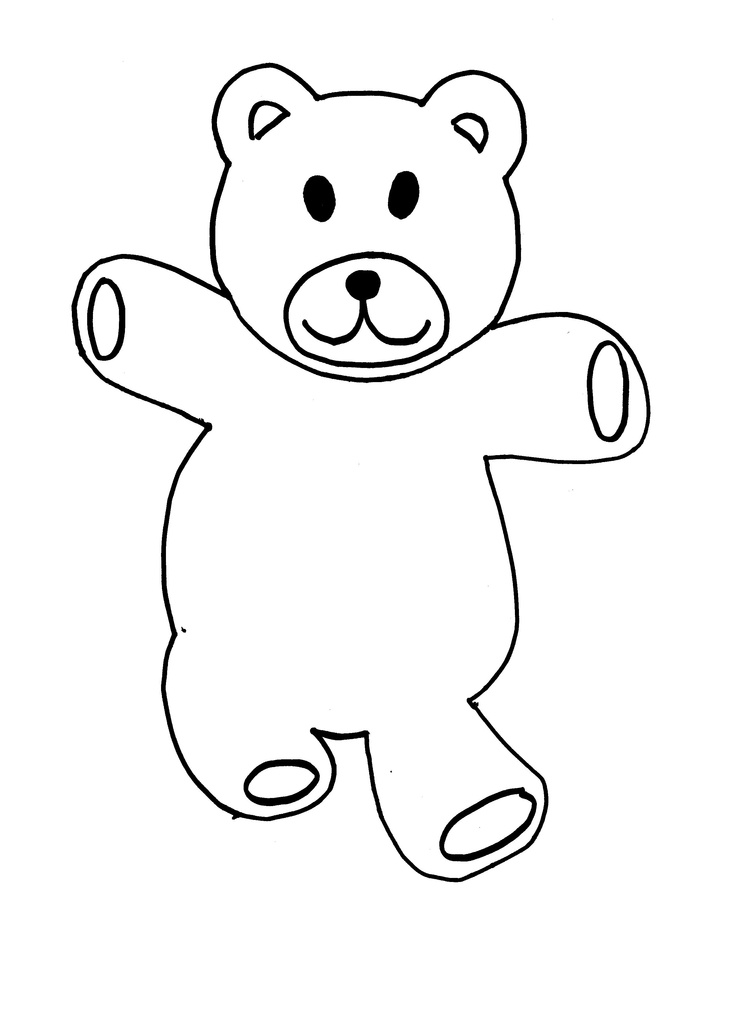 brown coloring pages - the gallery for brown bear template