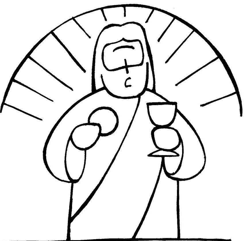 Chalice And Host Coloring Pages Communion Coloring Pages