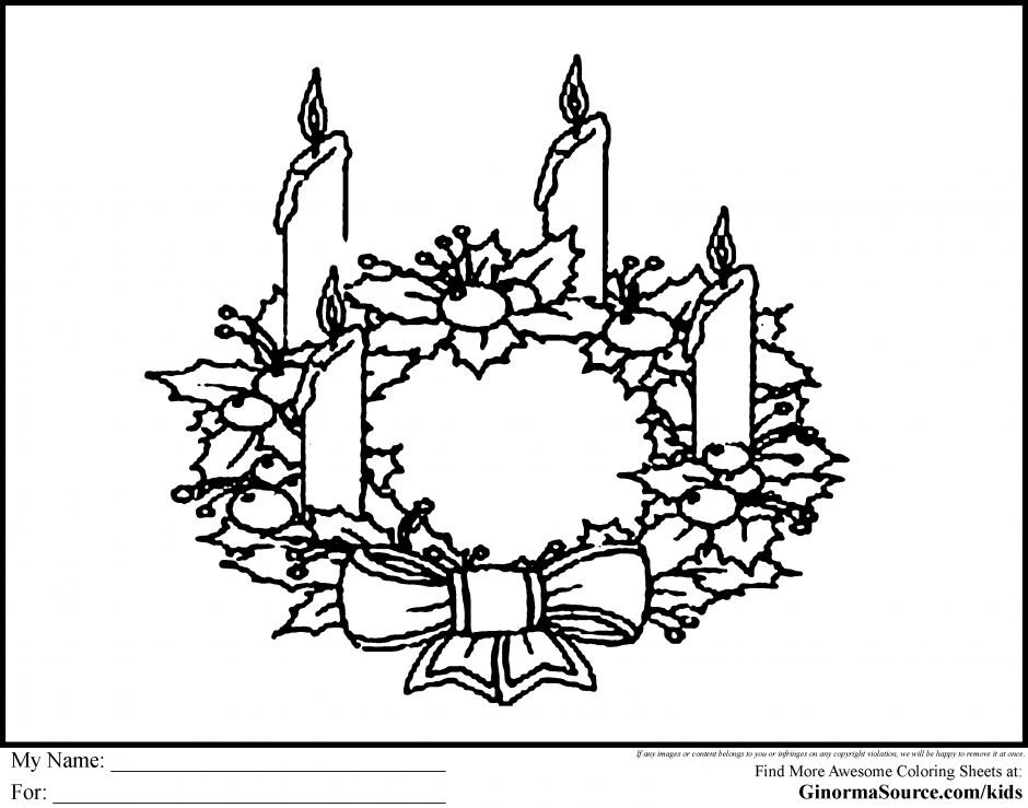Advent Wreath Coloring Pages Coloring Home Advent Colouring Pages