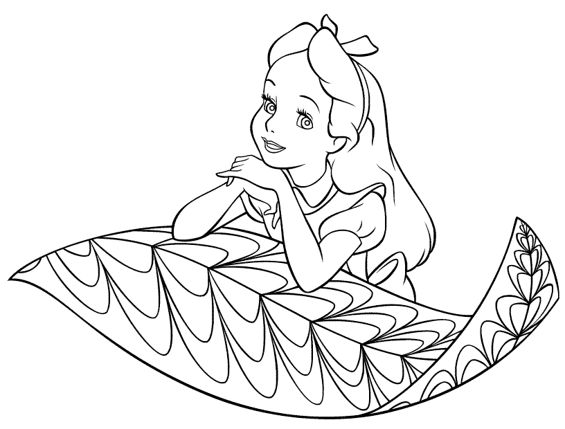 Tea party coloring pages az coloring pages for Alice in wonderland tea party coloring pages