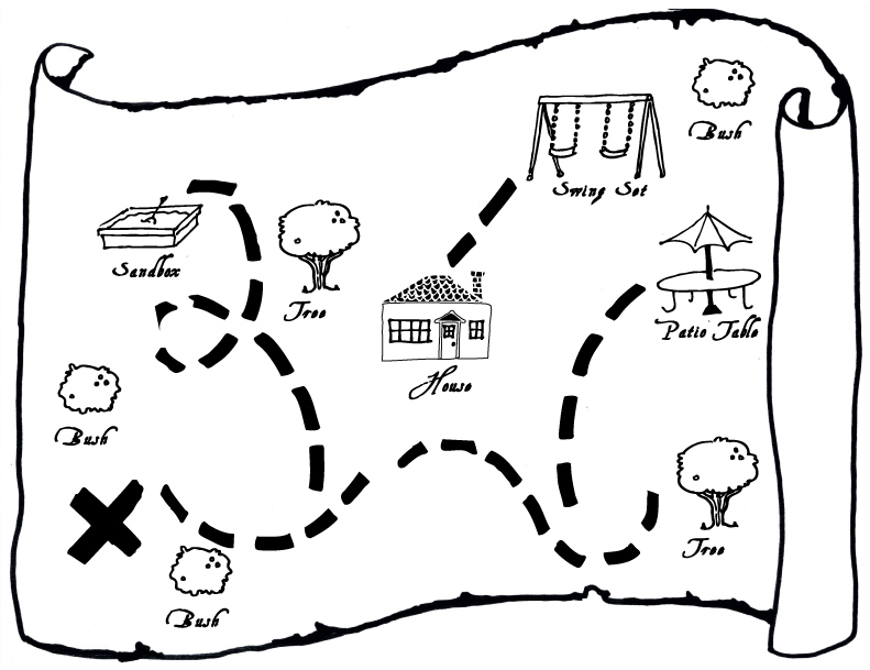 Treasure Map Template KS1 FOR COLOURING Blank Images