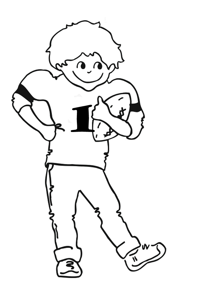 nfl football player coloring pages - photo#17