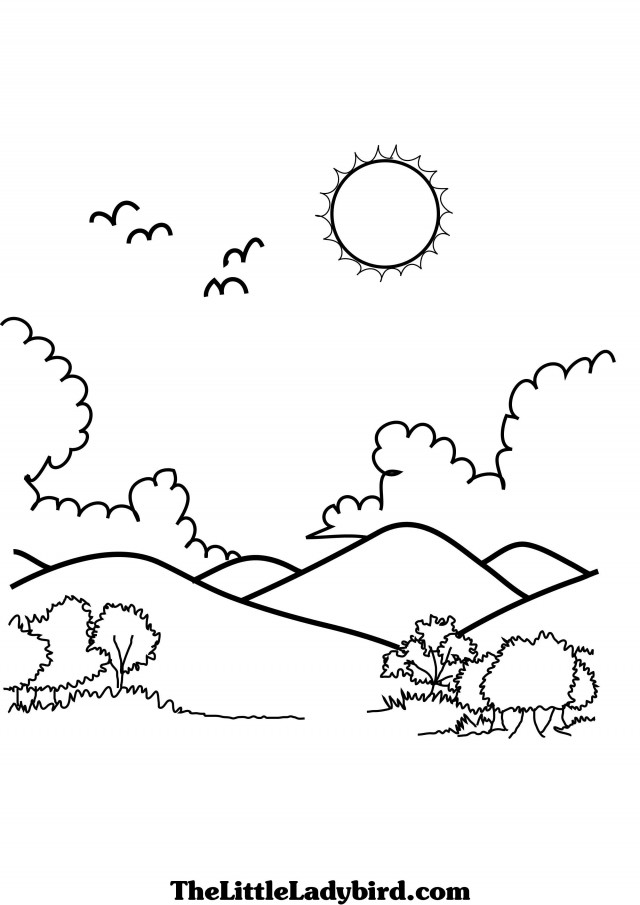 coloring pages mountains - photo#24