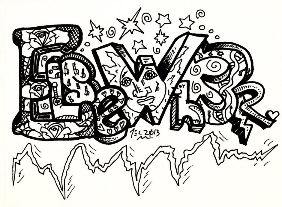 coloring pages of graffiti letters - photo#26