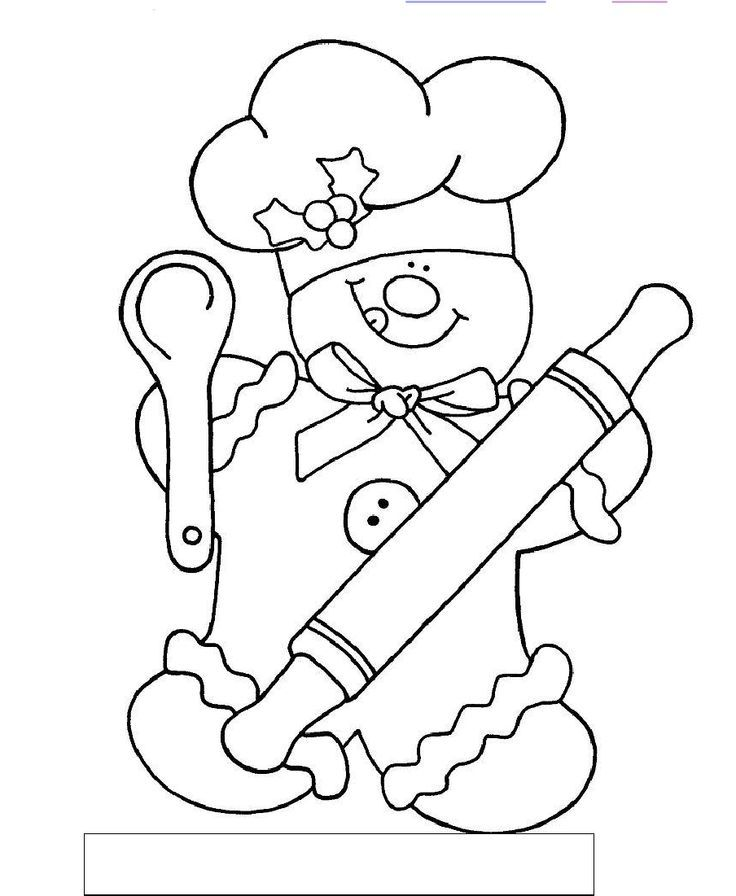 Gingerbread Chef Color by Sum | COLORING PAGES | Pinterest