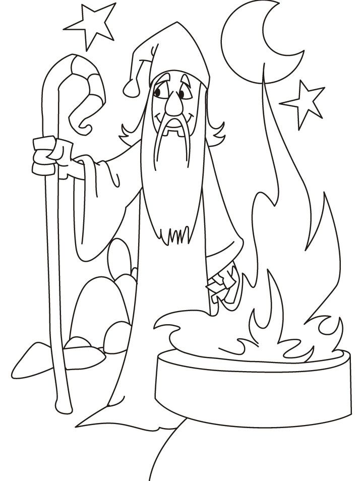 Wizard coloring pages for adults coloring pages for Wizard coloring pages