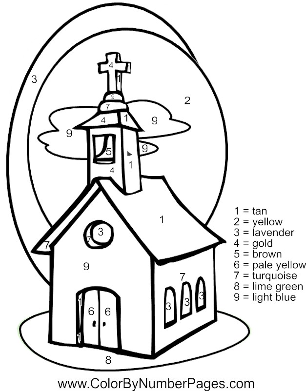 church coloring pages for children - photo#15