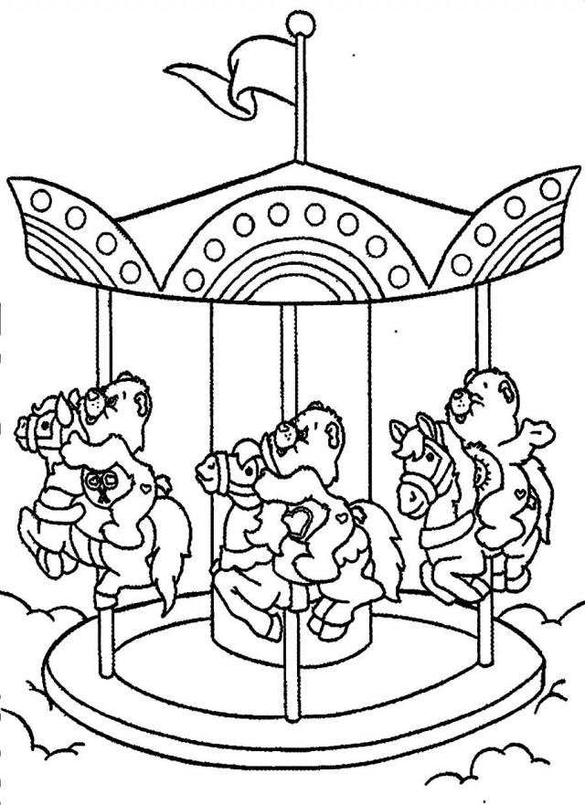 fun fair coloring pages - photo#8