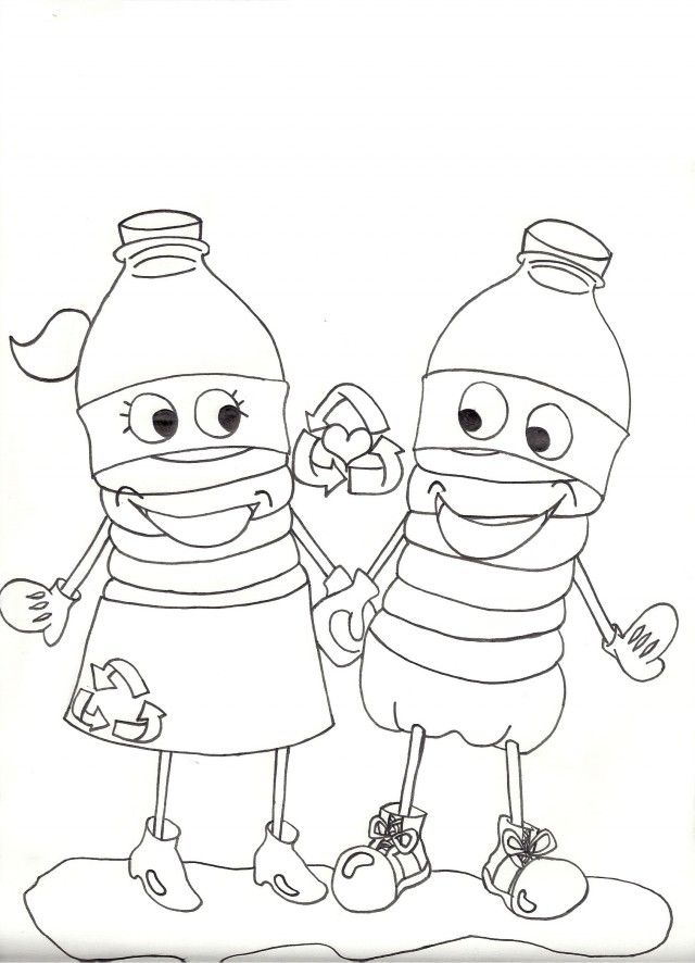 Recycle Coloring Page Coloring