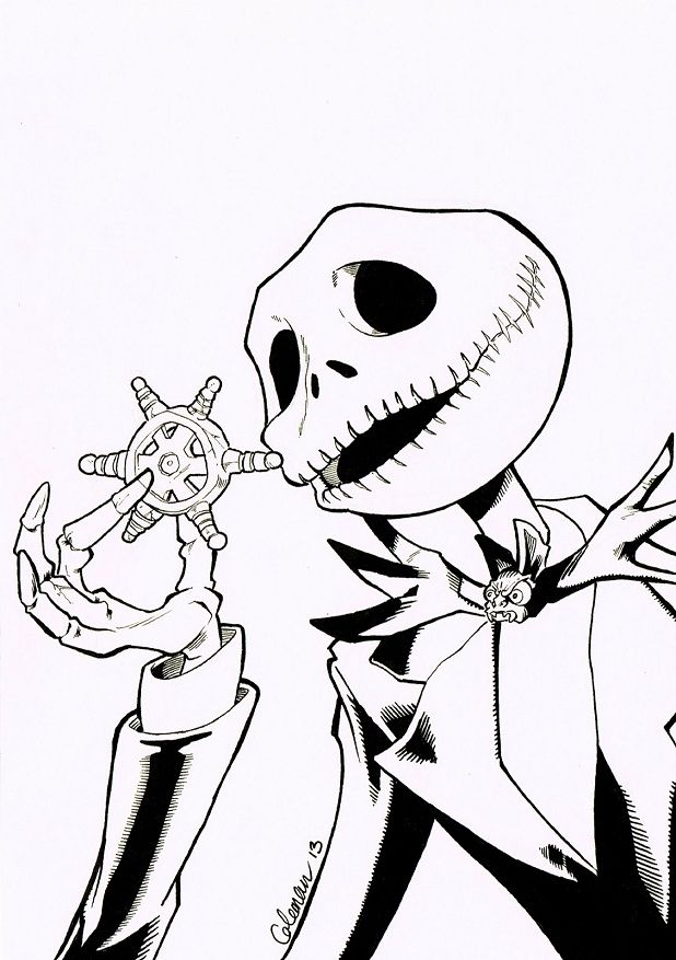 the nightmare before christmas coloring pages coloring home - Nightmare Before Christmas Coloring Pages